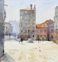David Howell  PPRSMA Born 1939CAMPO DEI MORI, VENICE  Watercolour