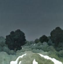 "Michael Bennallack Hart Born 1948THUNDER Oil on canvas 30"" X 30"""