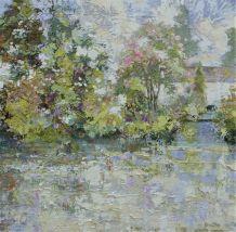 """Paul Treasure  Born 1961MILL HOUSE  Oil on canvas  40"""" X 40"""""""