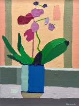 Sam Wadsworth, Orchid in Blue and Peach, 2016