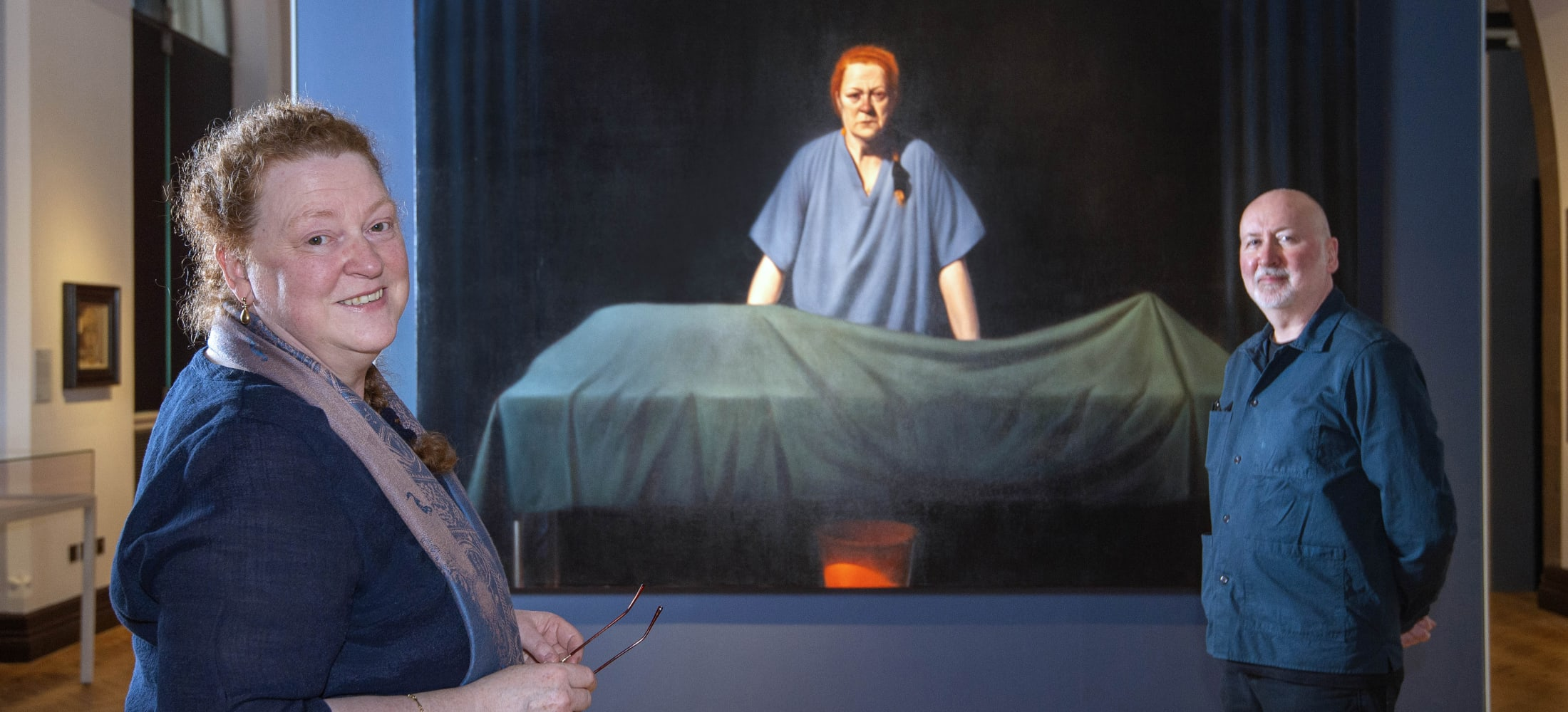 Ken Currie unveils painting of Professor Dame Sue Black