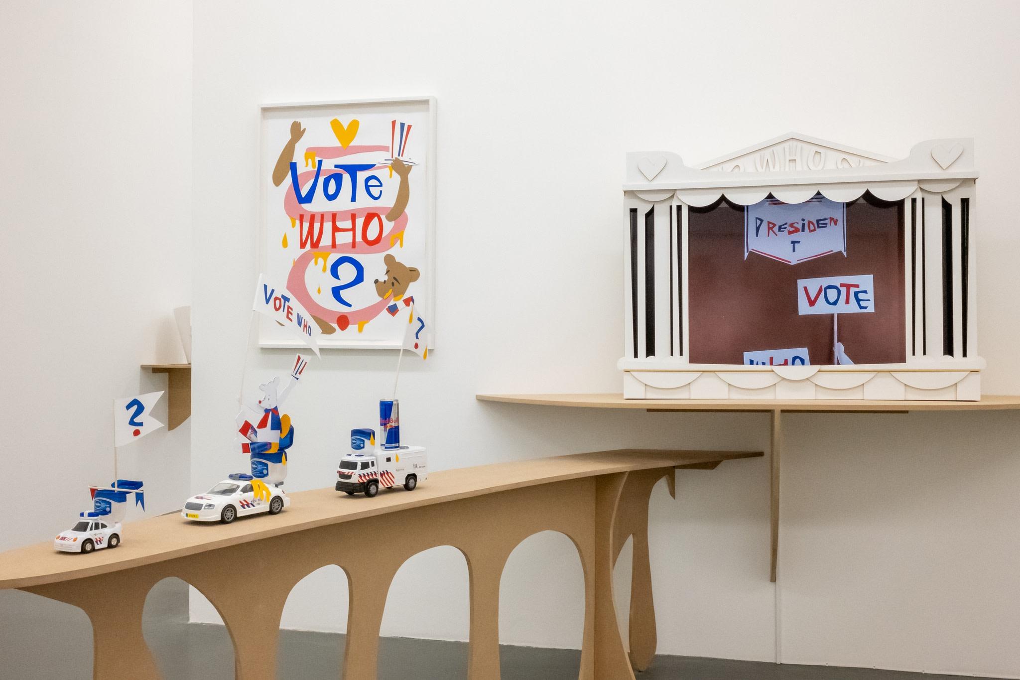 Exhibition view: Simon Fujiwara, new work, Melly Kunstintituut, Rotterdam, 2021. Photo © Jeroen Lavèn