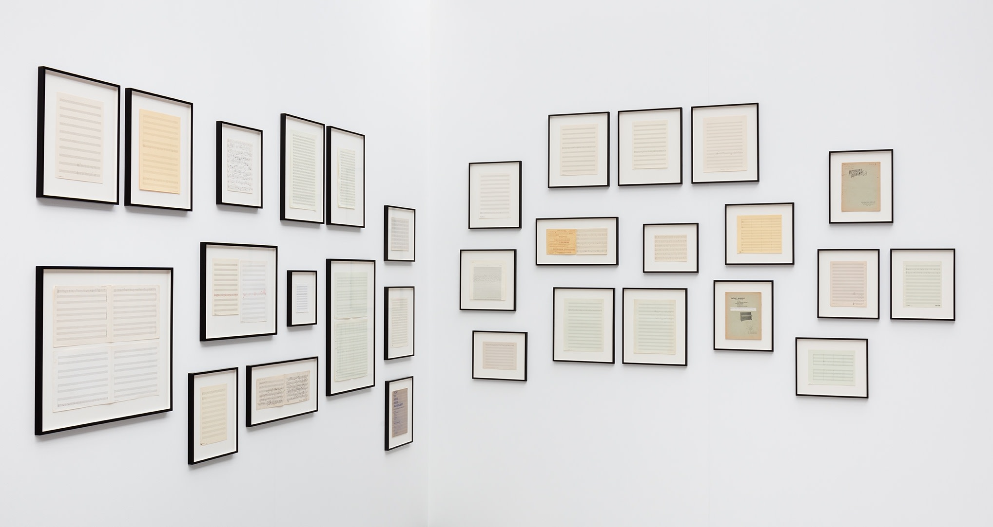 Ari Benjamin Meyers, works from the Atlas of Melodies series, 2015, handwritten scores on paper, dimensions variable. Photo © Andrea Rossetti