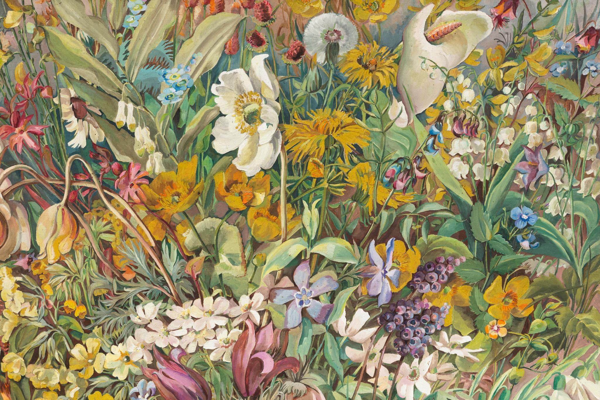 Detail: Hannah Höch, Aus dem blühenden Tal, 1937, oil on canvas, 75,5 x 70,5 cm (29 3/4 x 27 3/4 in). Photo © Andrea Rossetti