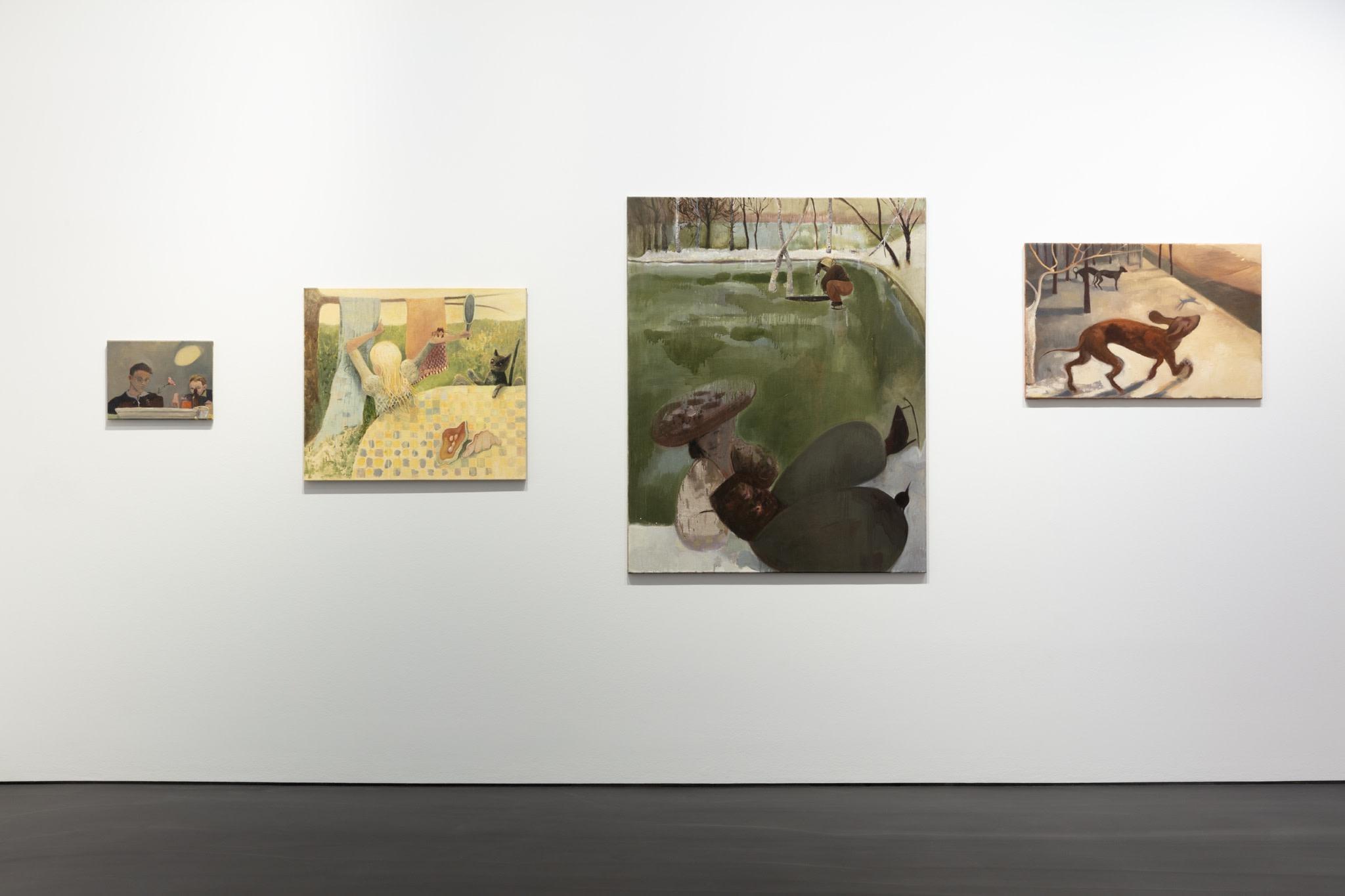 Works by Sarah Buckner. Exhibition view: L'Invitation au voyage, Esther Schipper, Berlin. Photo © Andrea Rossetti