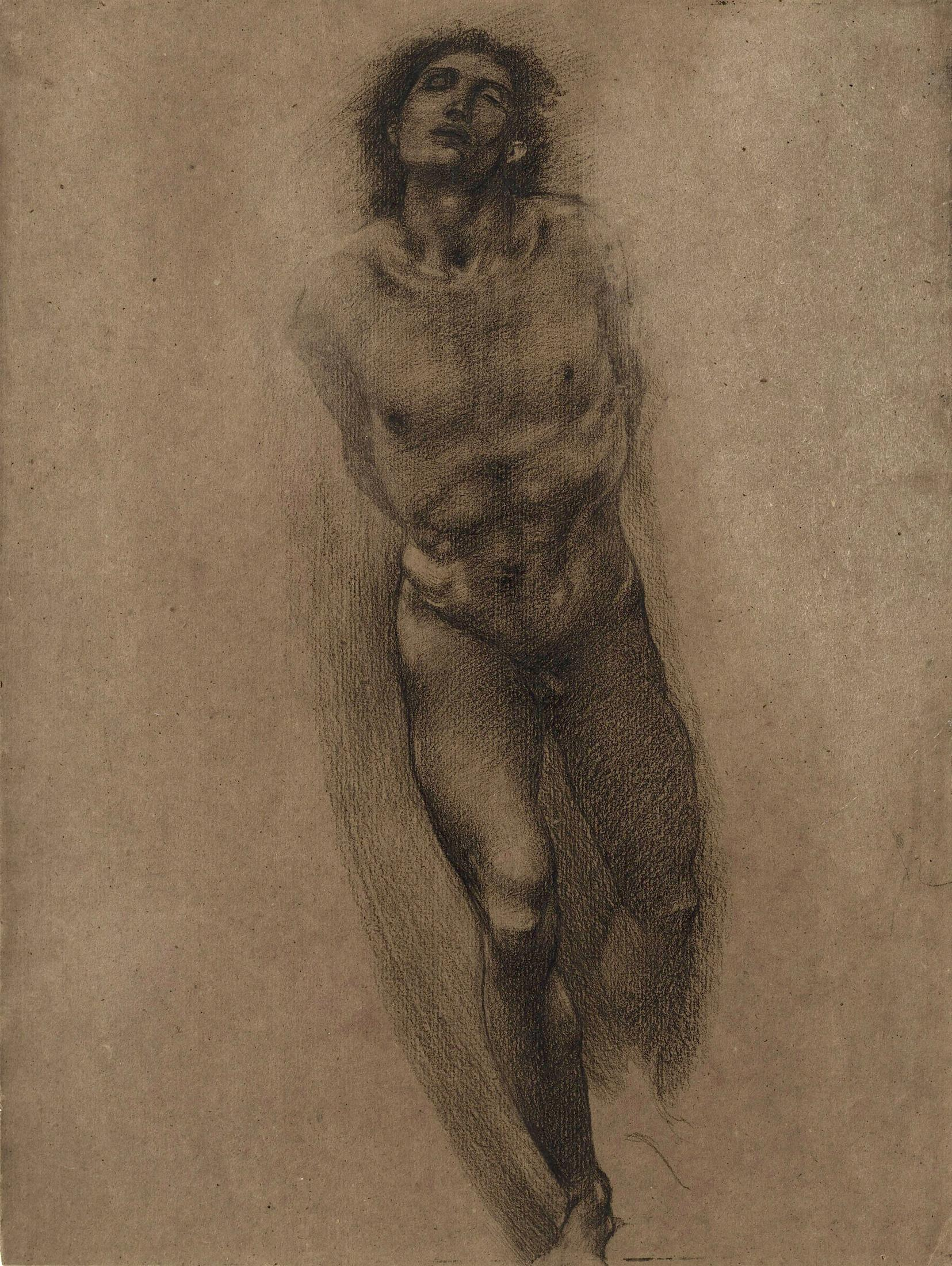 Figure Study for 'The Car of Love'