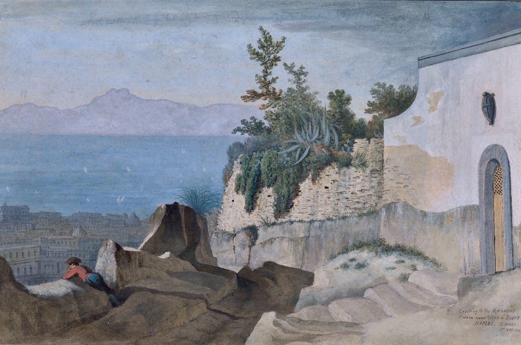 A view over Naples on the Salita della Riccia near Capodimonte