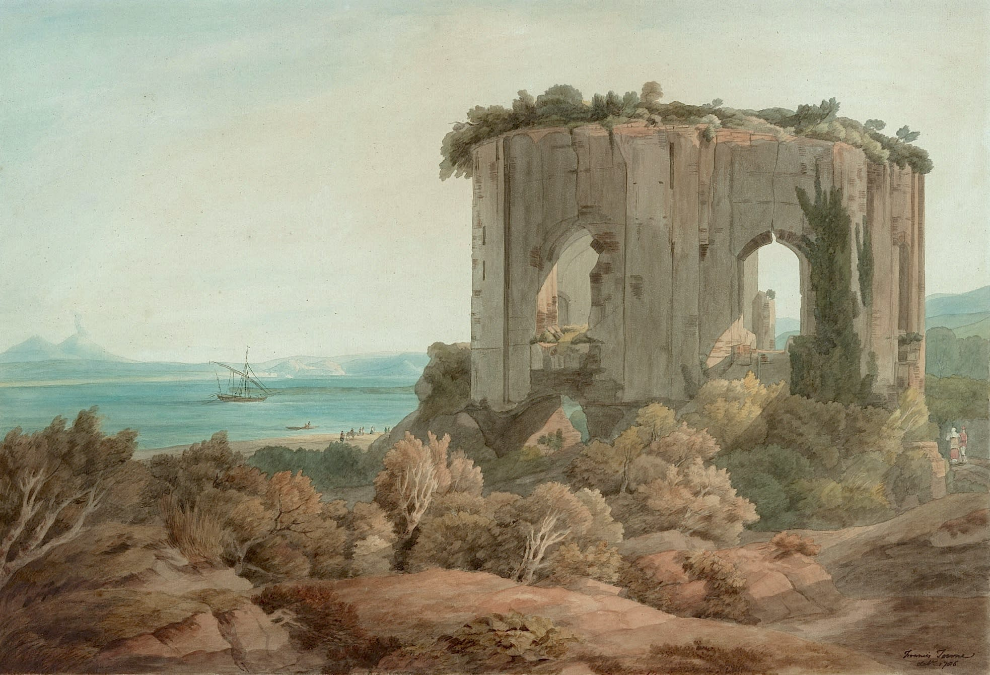 THE BAY OF NAPLES WITH THE TEMPLE OF VENUS