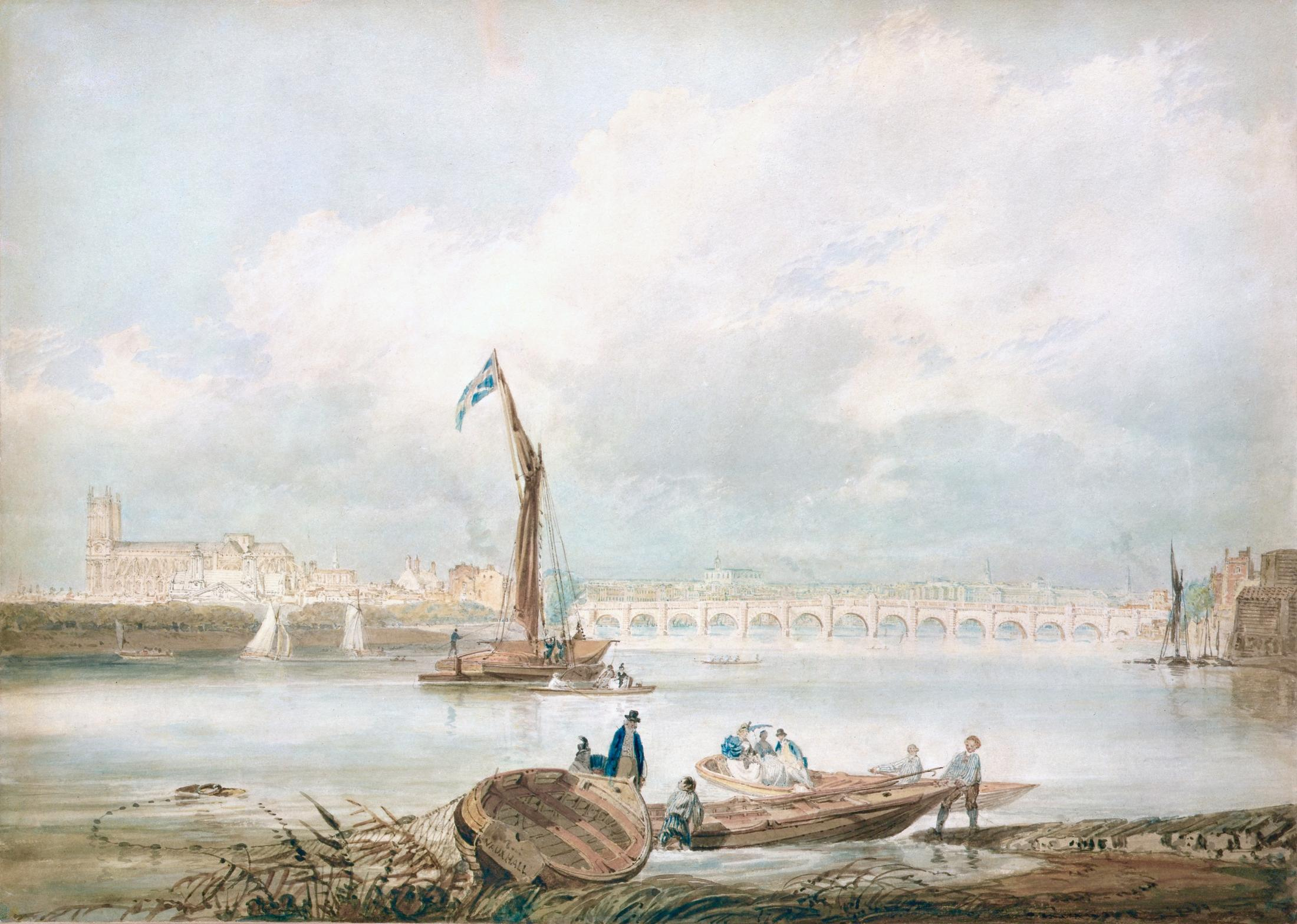 A View of London and the River Thames from Vauxhall with Westminster Bridge