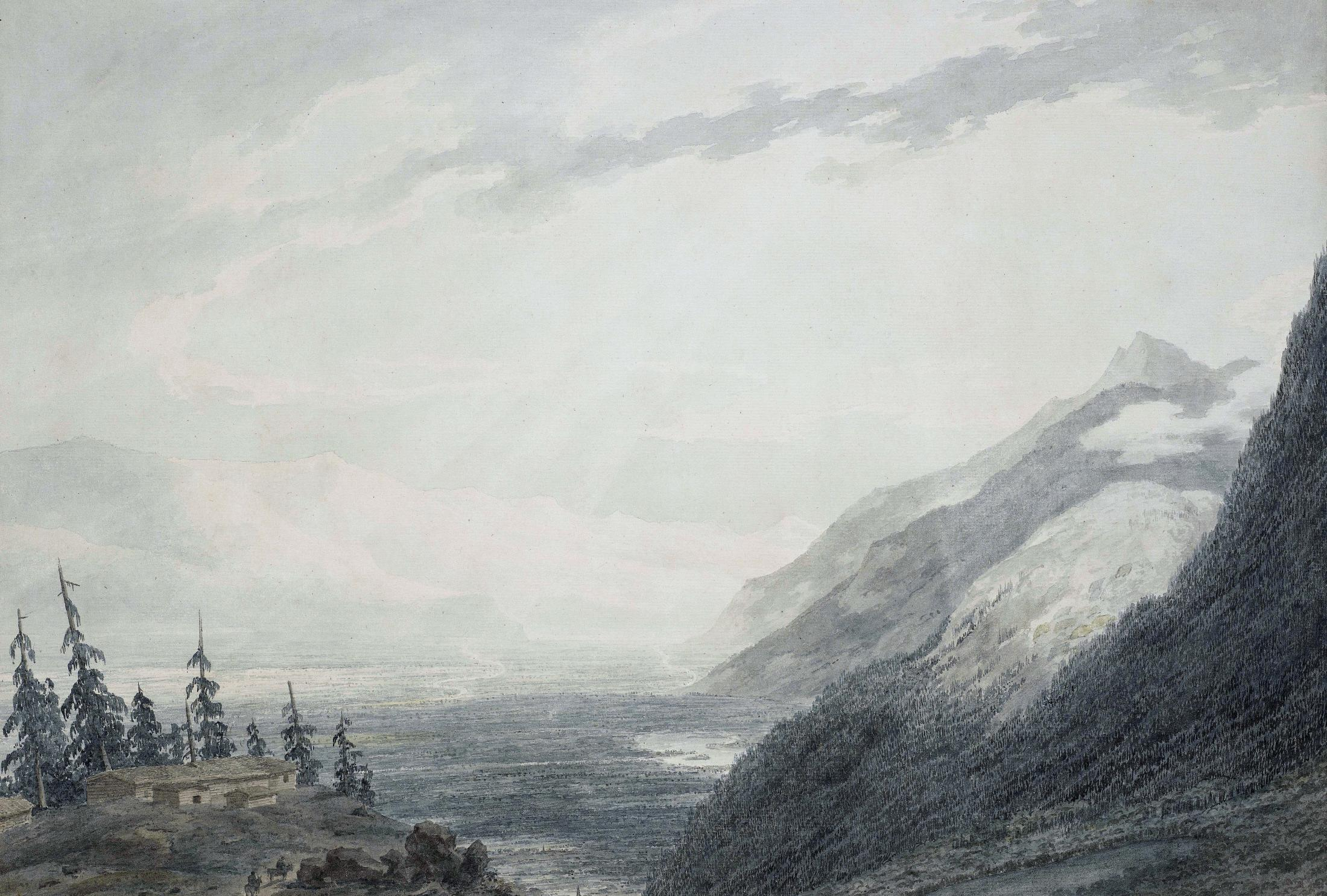 The Approach to Martigny, Rhone Valley, Valais