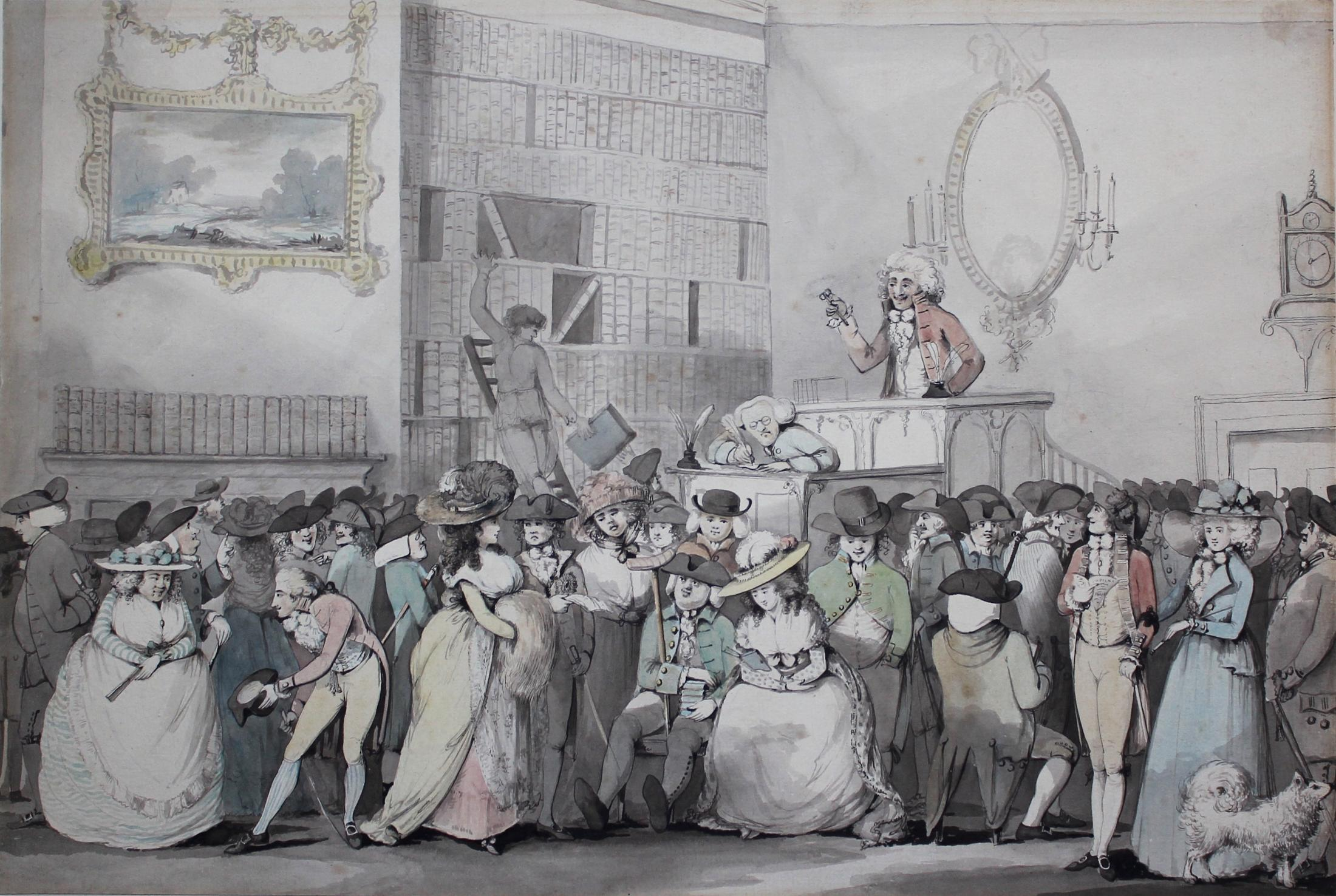 A Book Auction, probably at Sotheby's