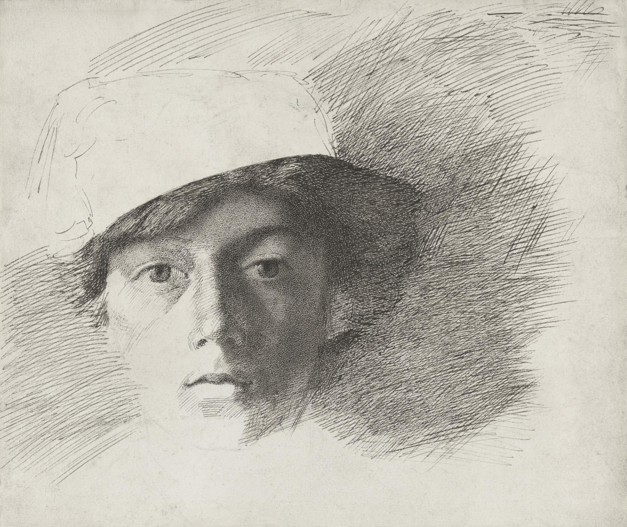 Self-Portrait as a Young Man wearing a Fez