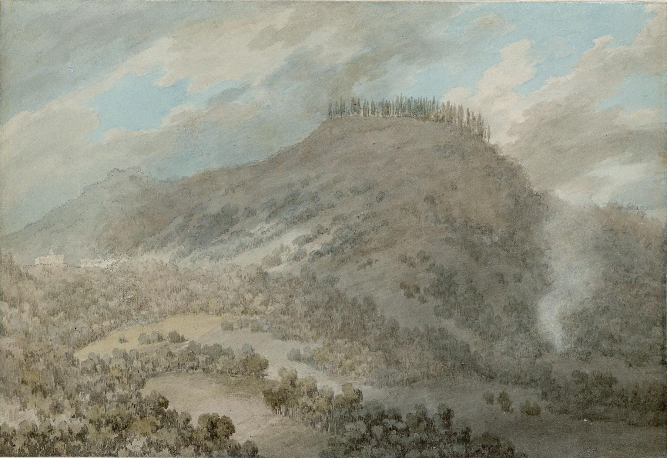 View from Mirabella in the Euganean Hills near Padua