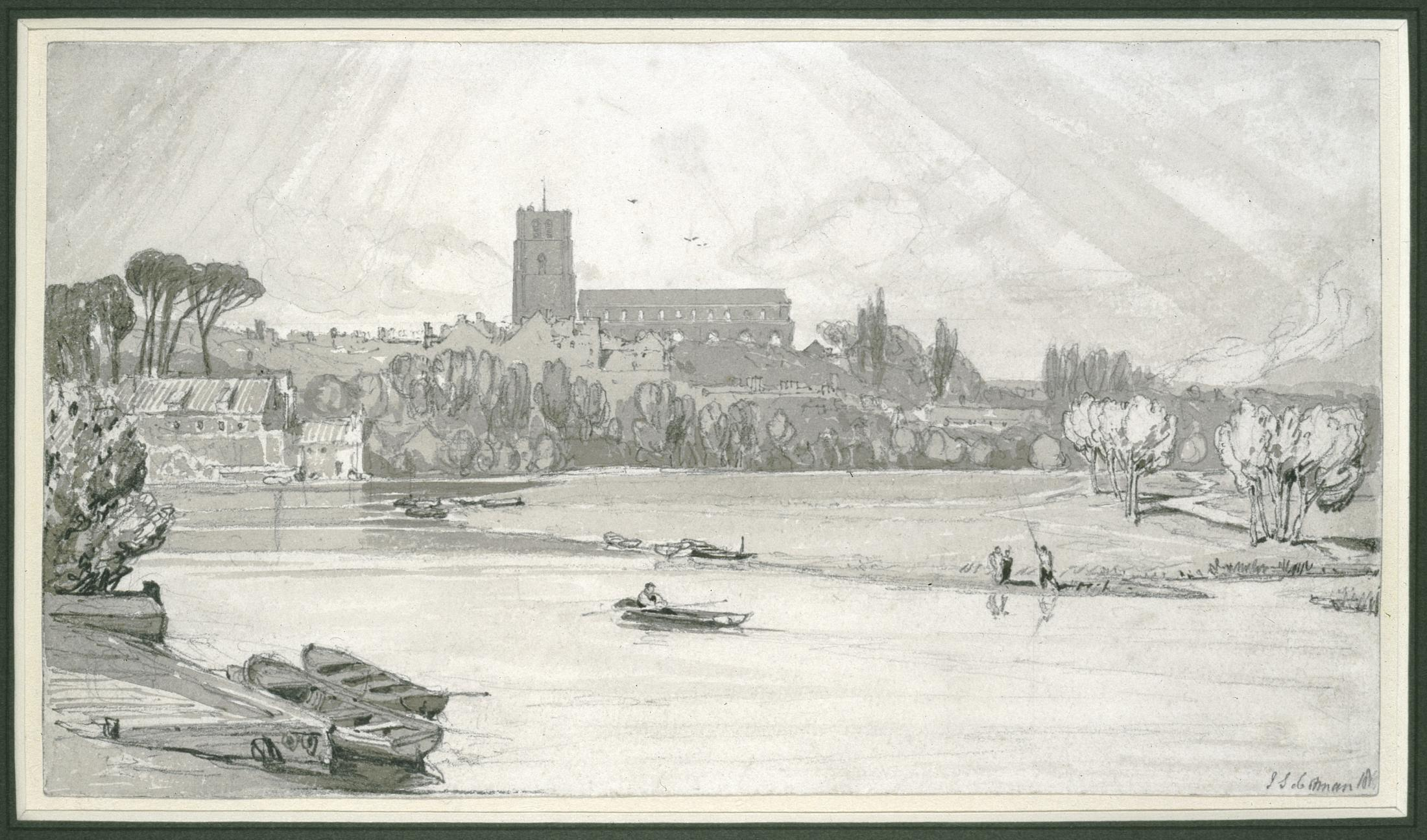 The Town of Beccles from the Bridge