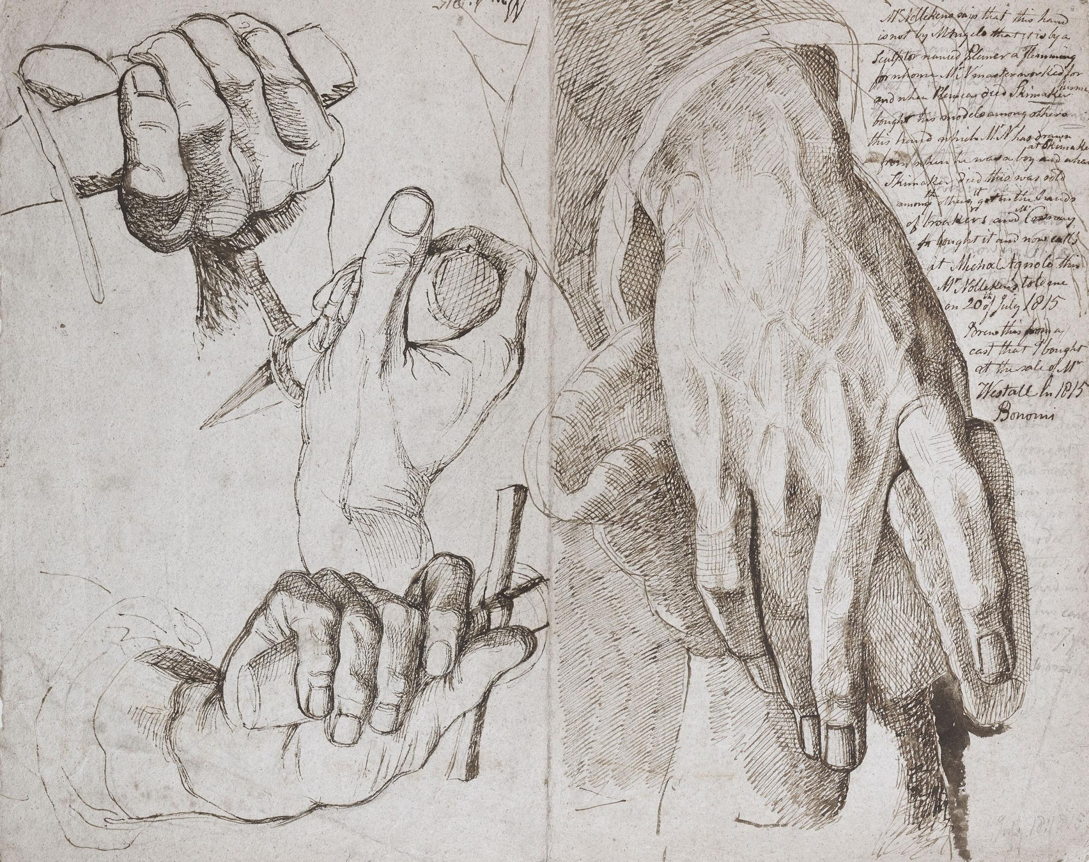 Study of a sculptor's hand