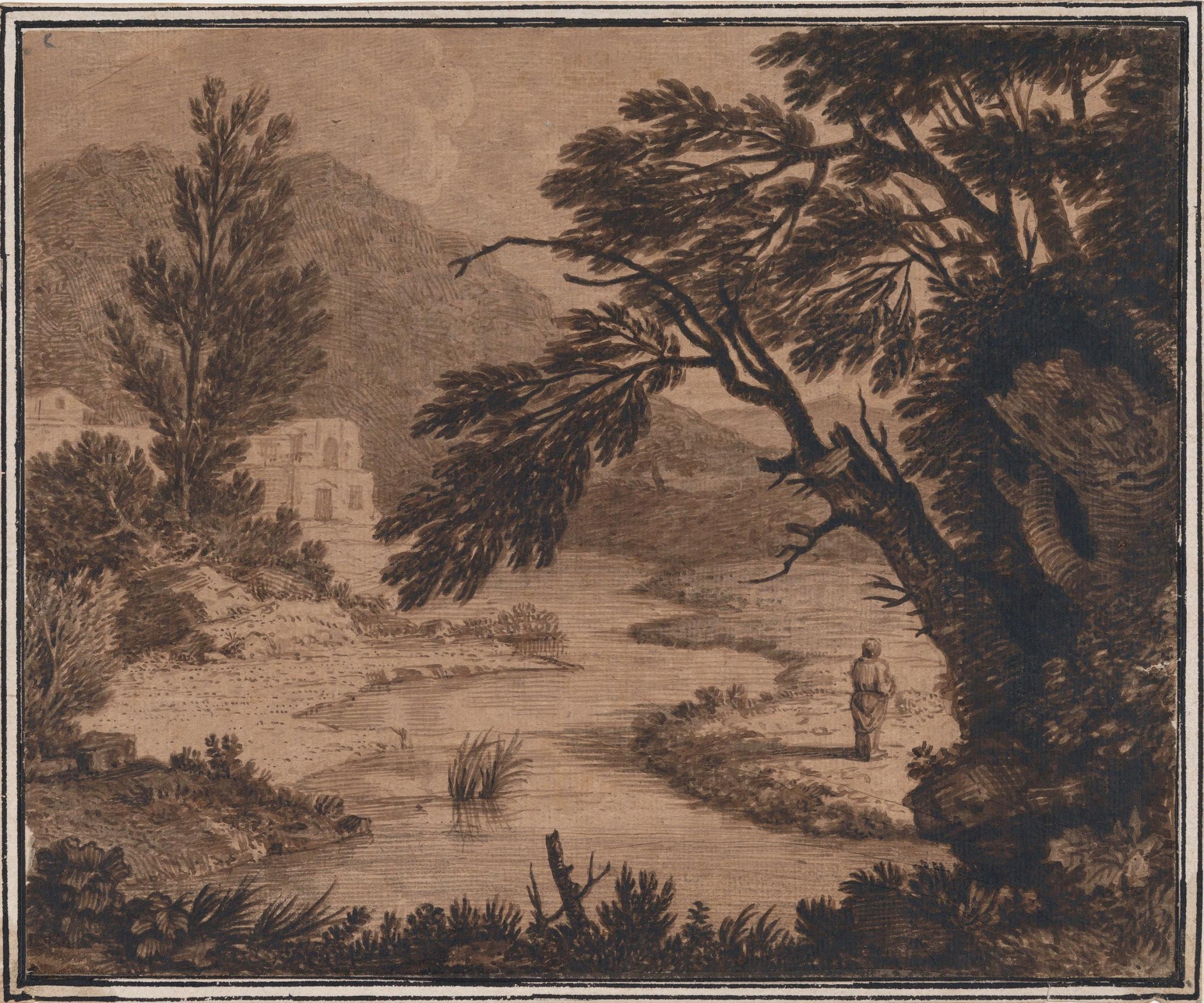 Figure in a Classical Landscape
