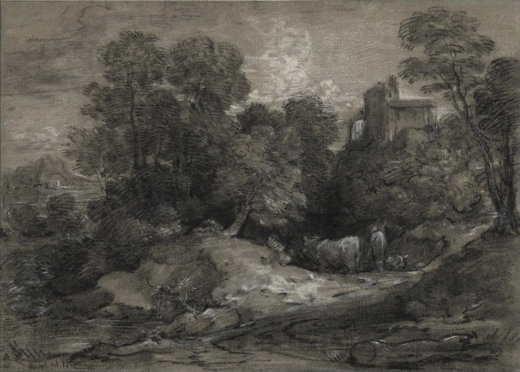 Wooded Landscape with Herdsmen and Cattle