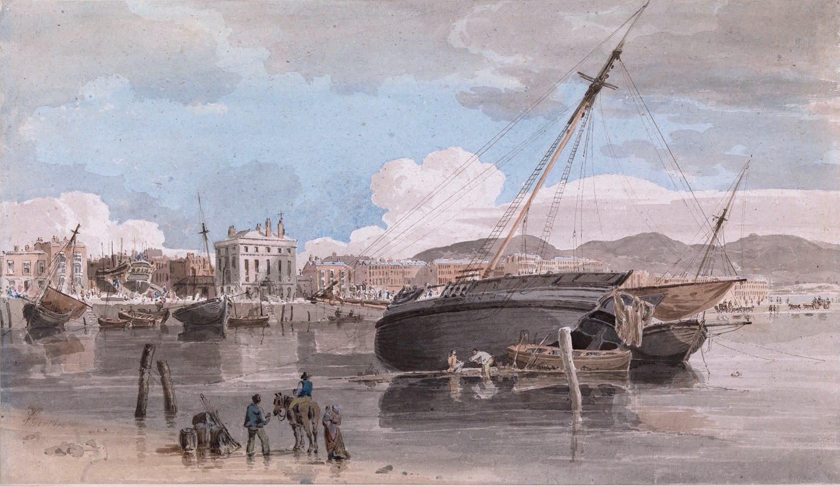 The Harbour at Weymouth, Dorset, circa 1798