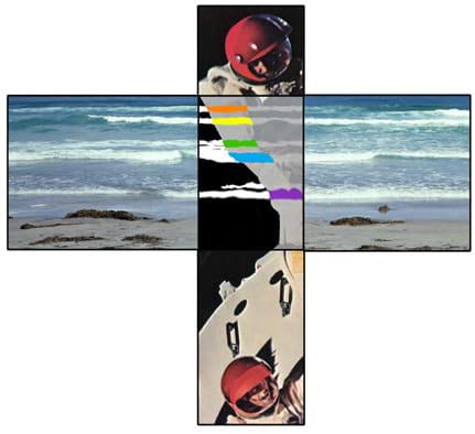 John Baldessari, The Intersection Series: Two Astronauts/Beach Scene, 2002