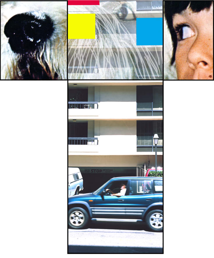 John Baldessari, The Intersection Series: Person and Dog/High Rise Building, 2002