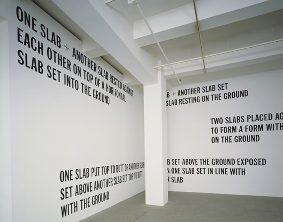 Lawrence Weiner, 5 FIGURES OF STRUCTURE, 1987