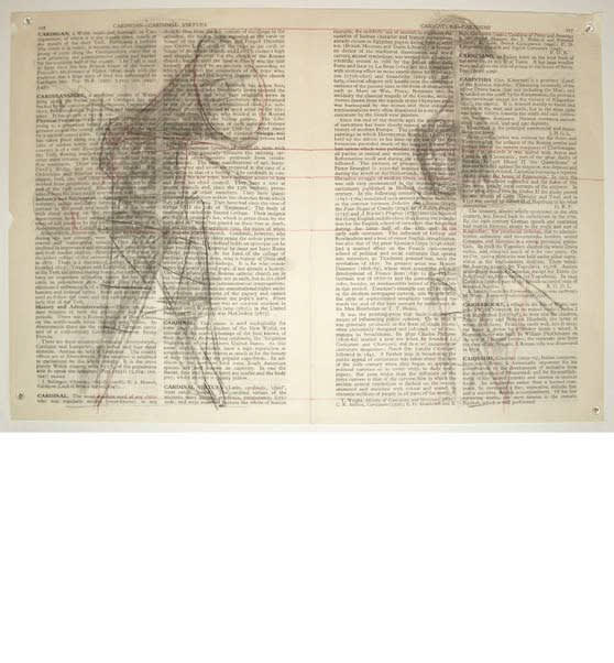 William Kentridge, Fragments for Georges Melies , (page 576 Falcone-Falconry/ Page 545 Eye, Diseases of the), 2003