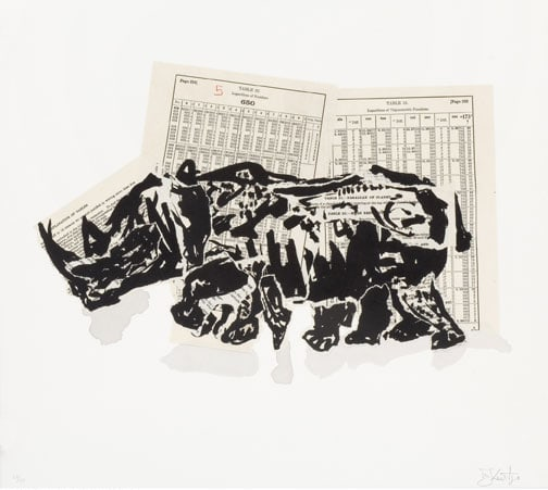 William Kentridge, Untitled (Rhino II), 2007