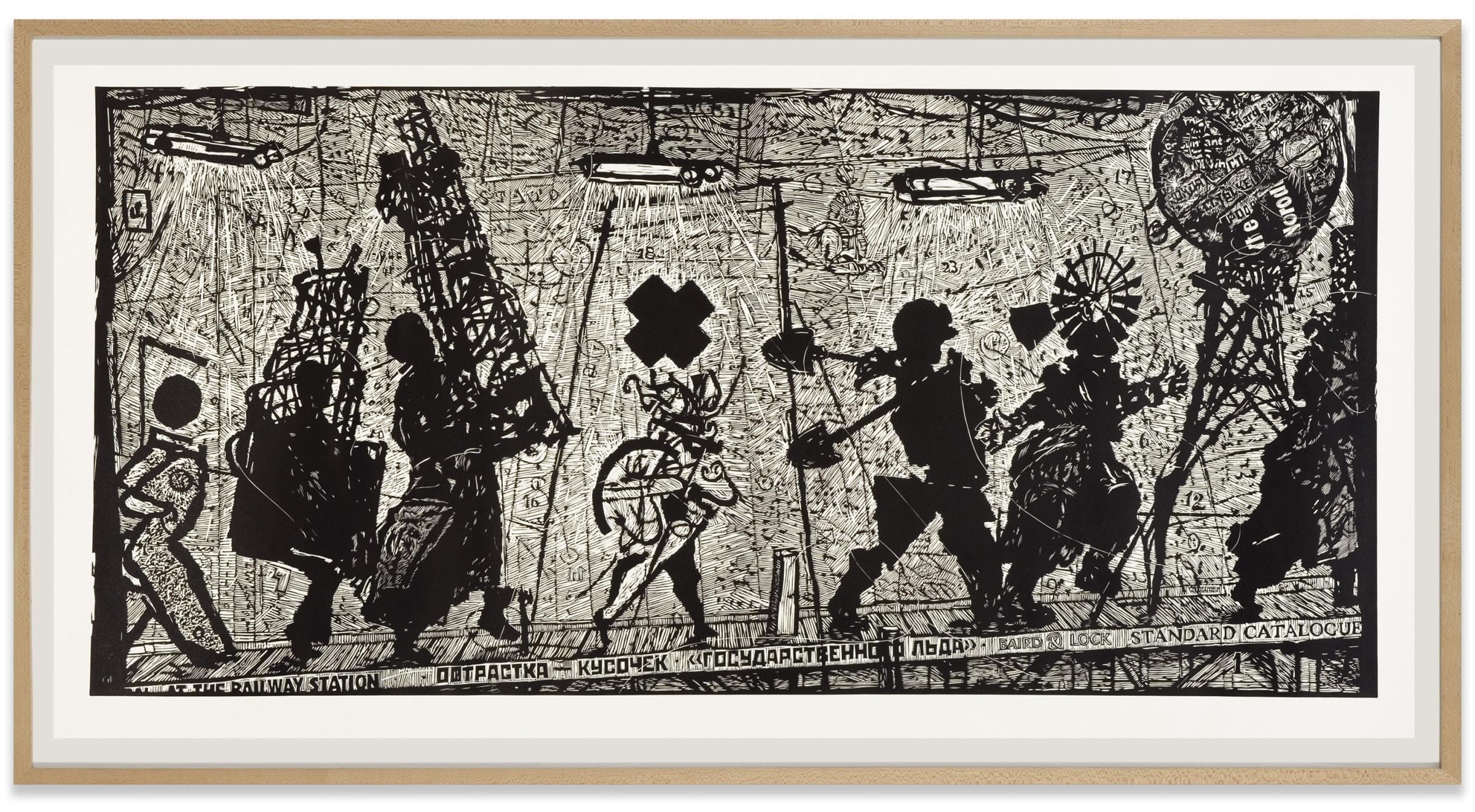William Kentridge, Eight Figures, 2010