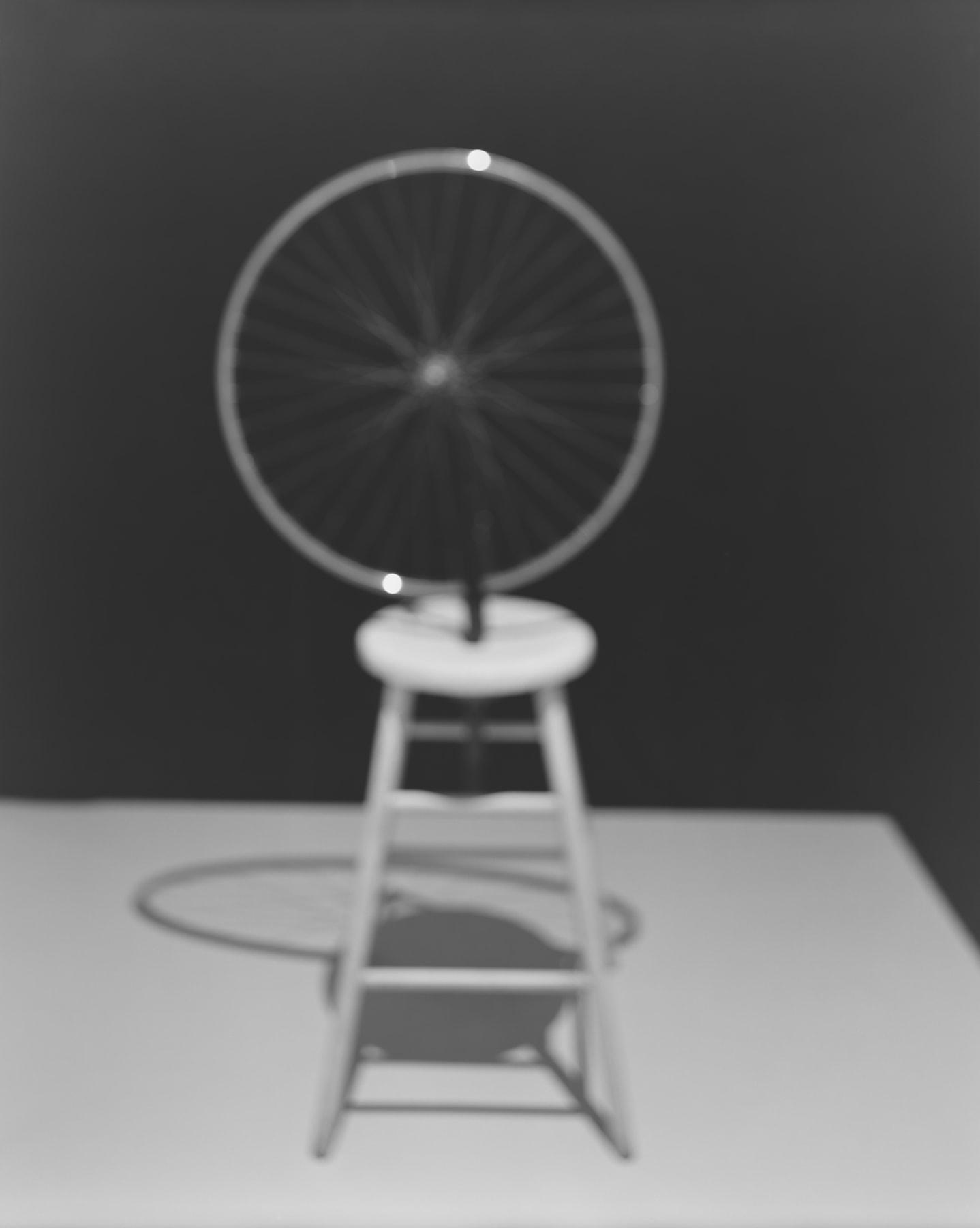 Hiroshi Sugimoto, Past Presence 025, Bicycle Wheel, Marcel Duchamp, 2014