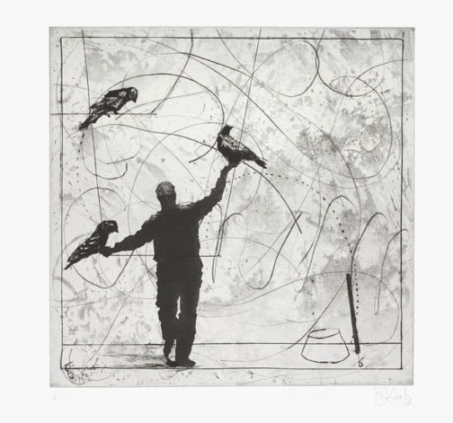 William Kentridge, Bird Catching, Set III, 2006