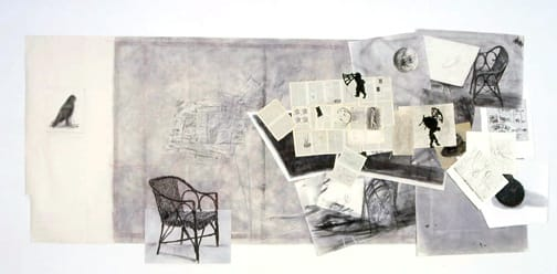 William Kentridge, Drawing for 'Journey to the Moon' and 'Fragments to Georges Melies', 2003