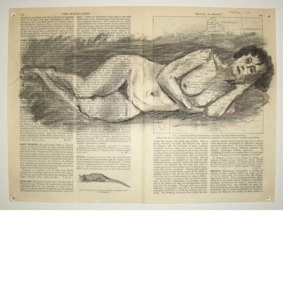 William Kentridge, Fragments for Georges Melies , (Page 812 Fort Wayne-Fossa/ Page 821 France, A-France), 2003