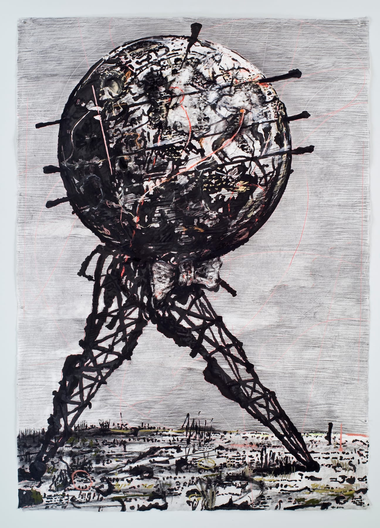 William Kentridge, Drawing for 'Il Sole 24 Ore (World walking), 2007