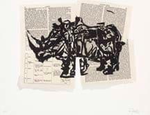 William Kentridge, Untitled (Rhino I), 2007