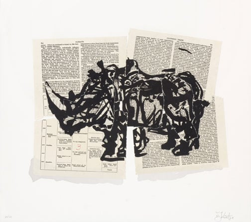 William Kentridge, Untitled (Rhino I), 2007