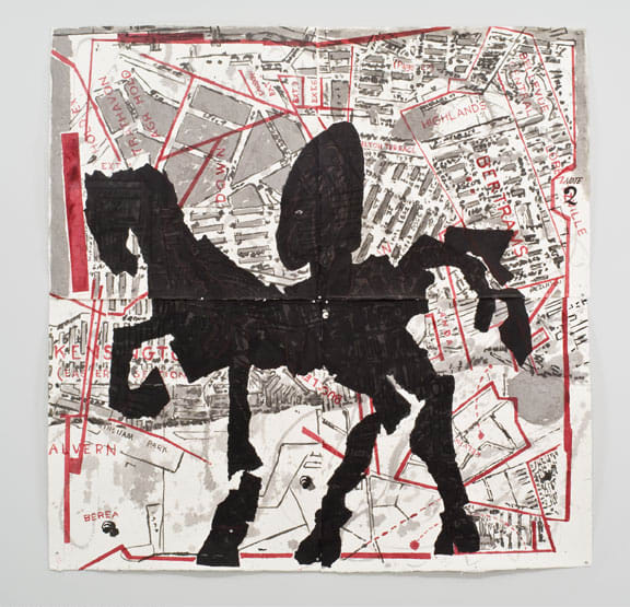 William Kentridge, Nose on Horse - Bertrams, 2007