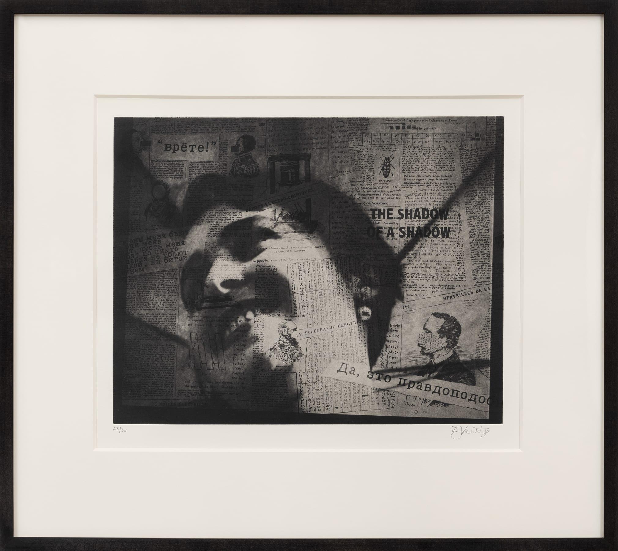 William Kentridge, The Shadow of a Shadow, 2010