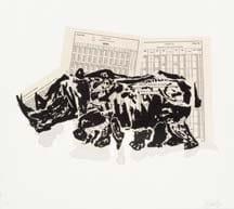 William Kentridge, Untitled (Rhino II), 2007