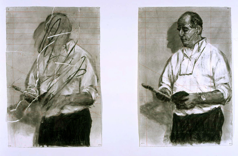 William Kentridge, Torn selfportrait/ Selfportrait, 2003
