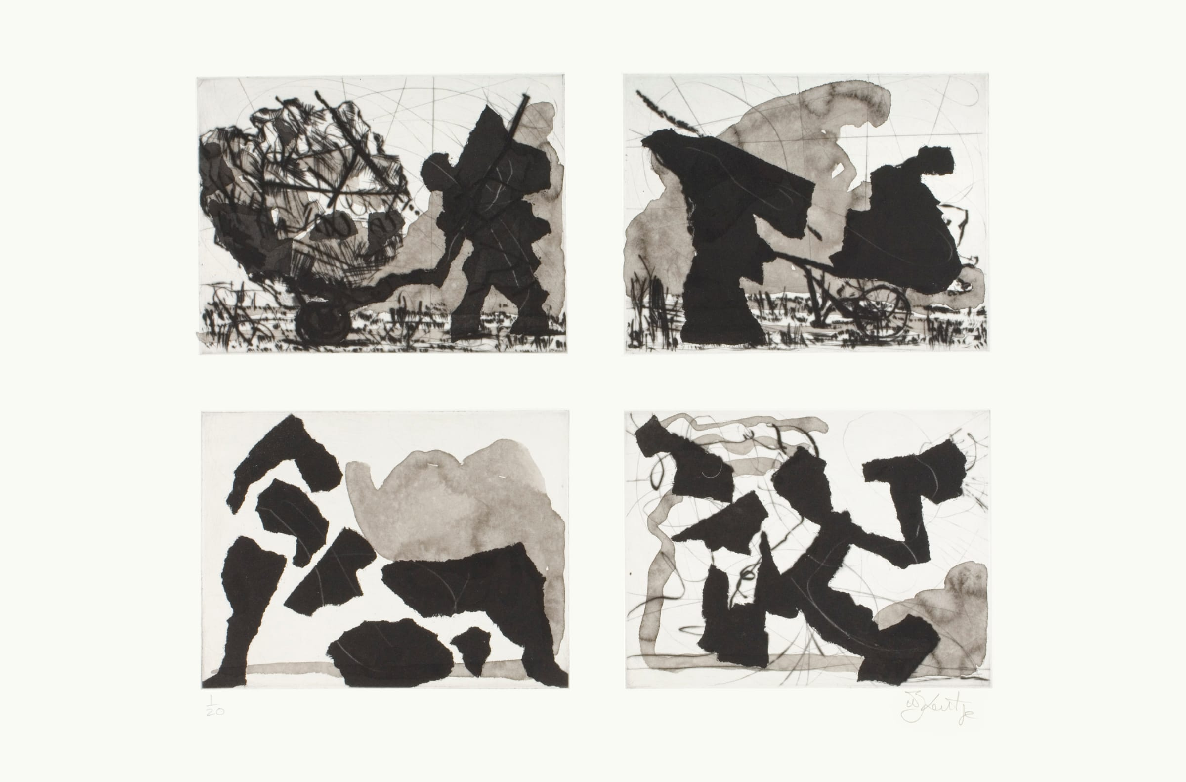 William Kentridge, Untitled (Four Shadows), 2006