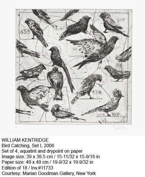 William Kentridge, Bird Catching, Set I, 2006