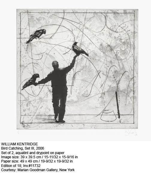 William Kentridge, Bird Catching, Set III, 2006