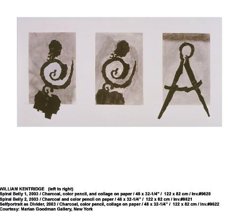 William Kentridge, Spiral belly 1, 2003