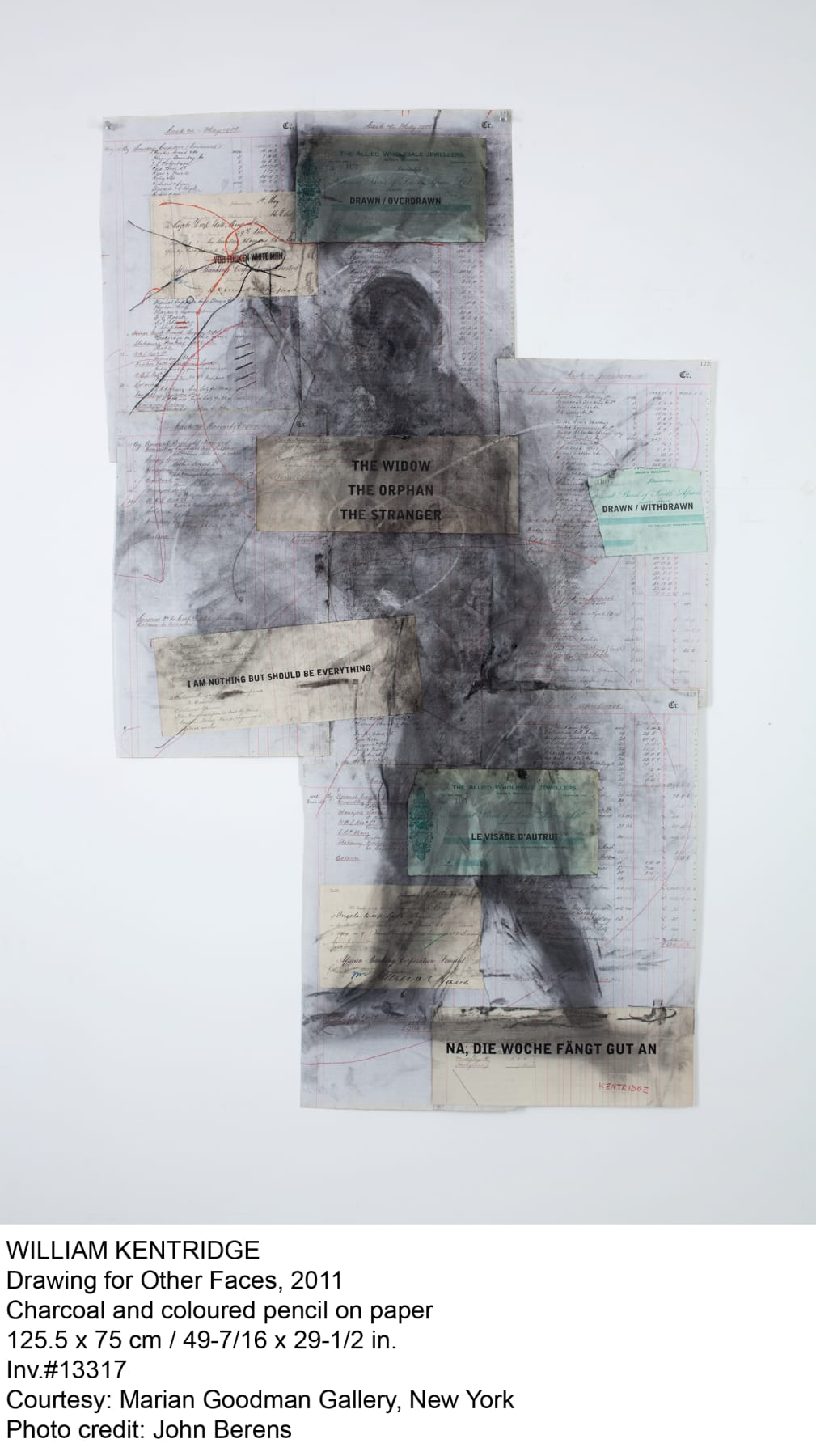 William Kentridge, Drawing for 'Other Faces', 2011