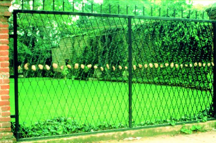 Gabriel Orozco, Piedras en la Reja (Stones in the fence), 1989