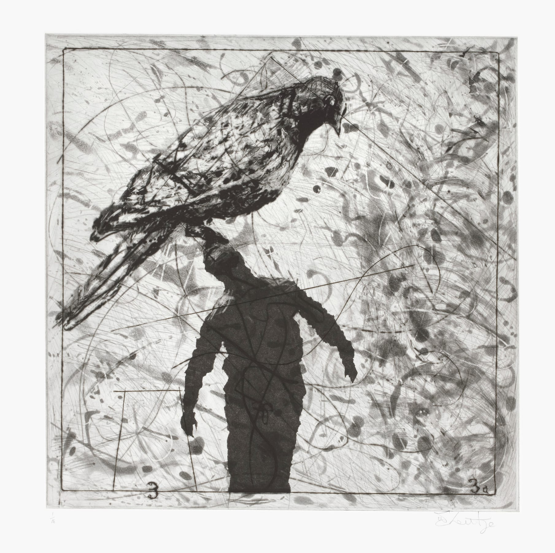 William Kentridge, Bird Catching, Set II, 2006