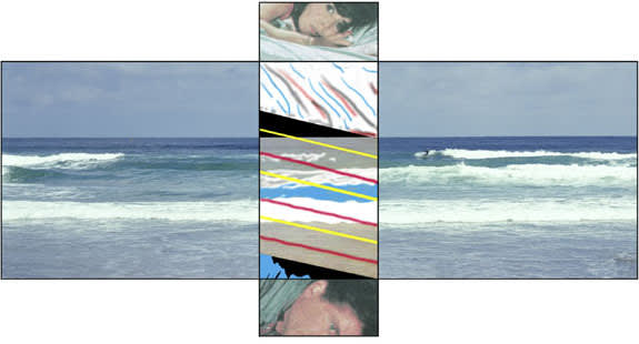 John Baldessari, The Intersection Series: Woman on Bed and Man Under Bed/Beach Scene, 2002
