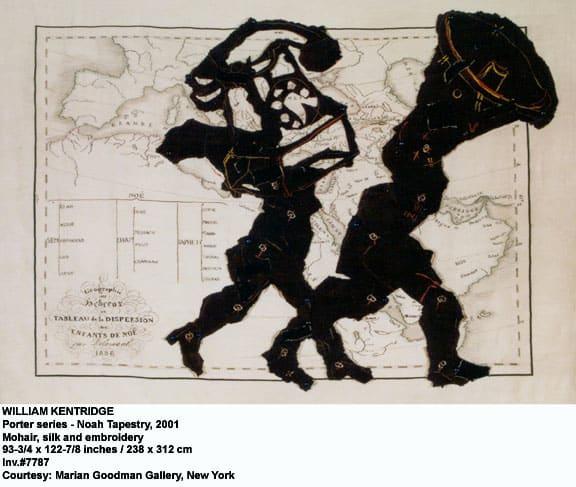 William Kentridge, Porter series - Noah Tapestry edition 1/3, 2001