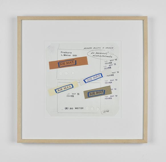Lawrence Weiner Somethings Brought to Hand