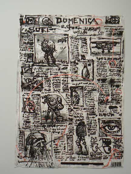 William Kentridge, Drawing for 'Il Sole 24 Ore' (Newspaper), 2007